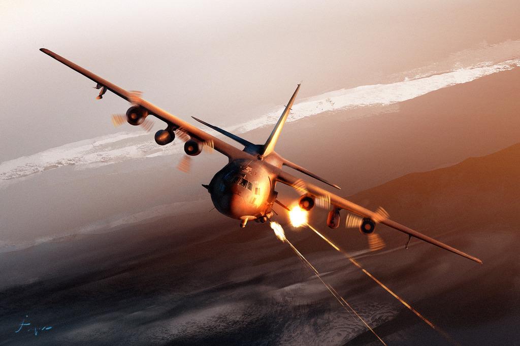 """Vídeo: AC-130 Gunship em preparação para usar o – """"Martelo de Hefestos"""""""